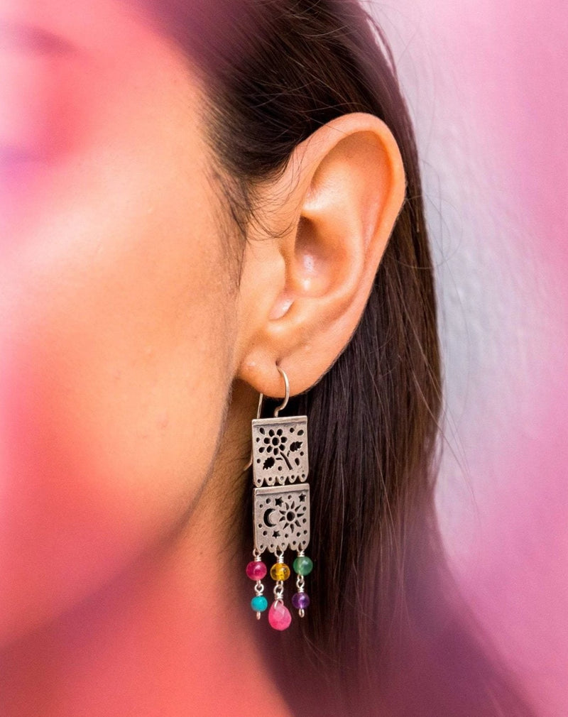 Aretes Arillo Doble Papel Picado