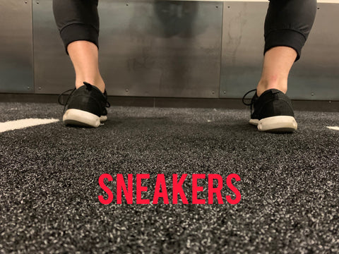 Footwear choices for squatting. How sneakers affect the squat and rest of the body.
