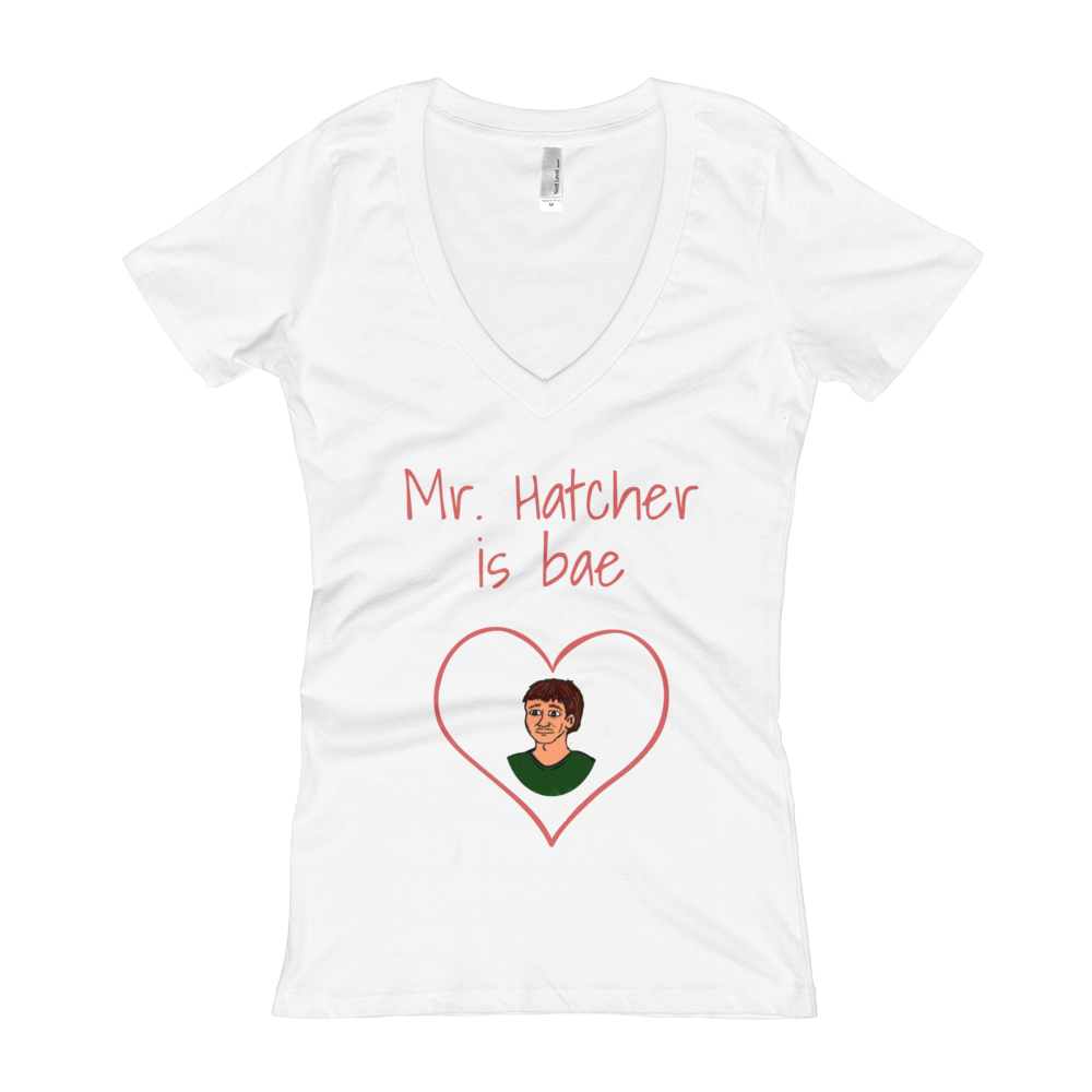 Women's Mr. Hatcher is Bae V-Neck T-shirt