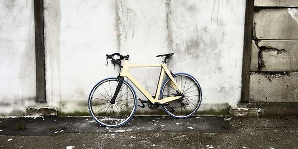 """Handmade wooden bike echoes in the streets"""