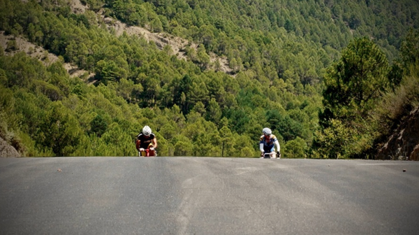 Crossing the Pyrenees on a wooden bike