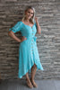 Attwood OTS Dress in Turquoise