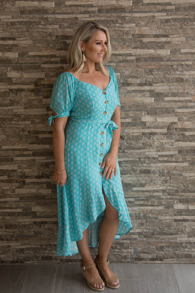 Attwood OTS Dress in Teal