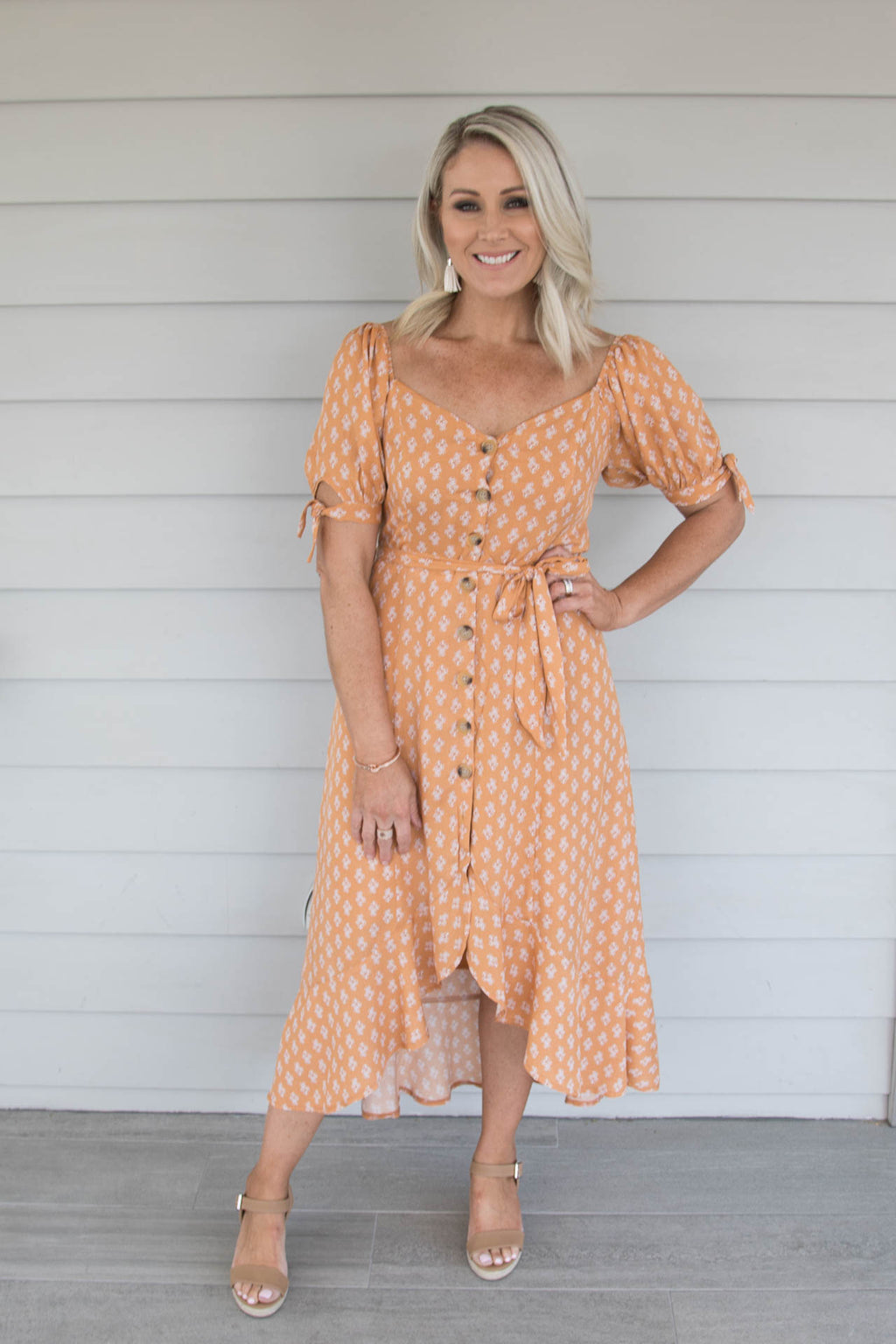 Attwood OTS Dress in Terracotta