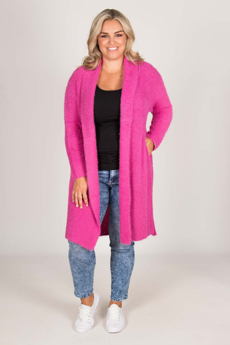 Mia Cardigan in Fuchsia