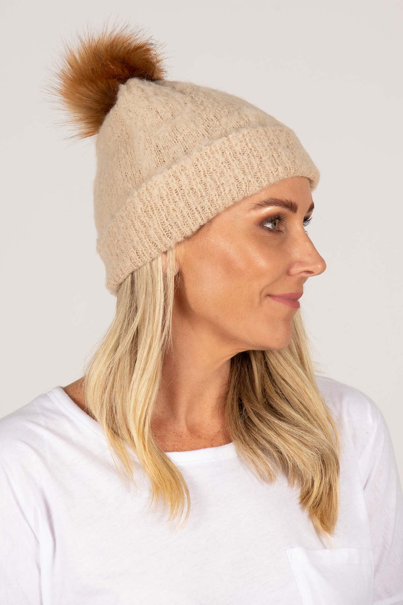 Apollo Beanie in Natural