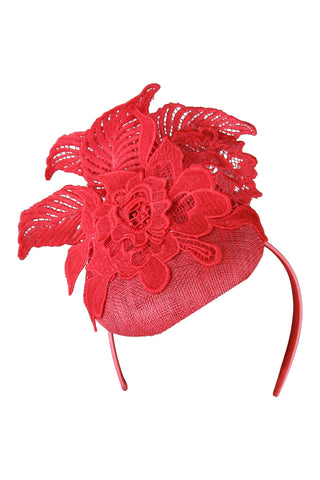 Jessie Fascinator in Red
