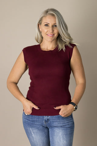 Andie Top in Burgundy