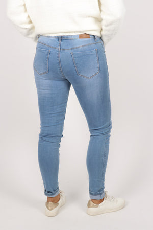 My Fit Stretch Denim Jeans in Light