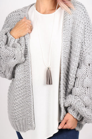 Adore Tassel Necklace Grey/White