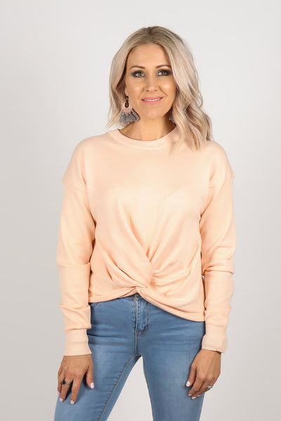 Generation Twist Top in Peach