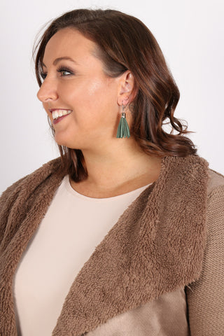 Admire Tassel Earrings in Khaki