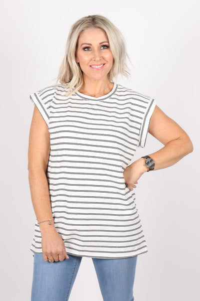 Willow Tee in White/Black