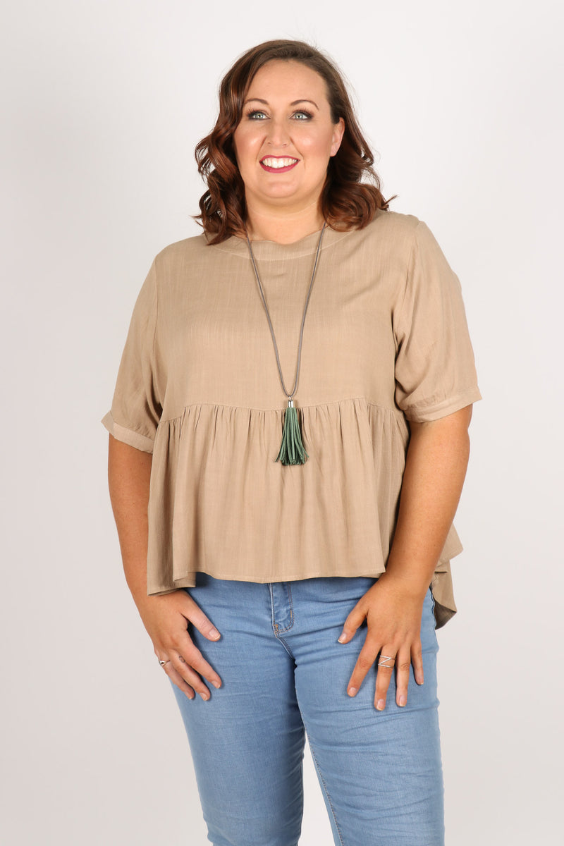 Lucy Top In Beige