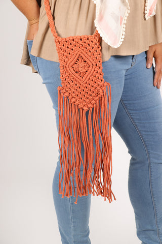 Nala Crochet Bag in Rust