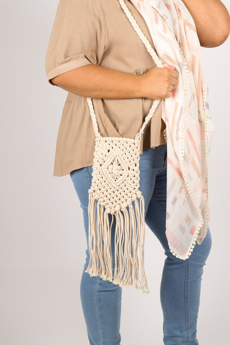 Nala Crochet Bag in Cream