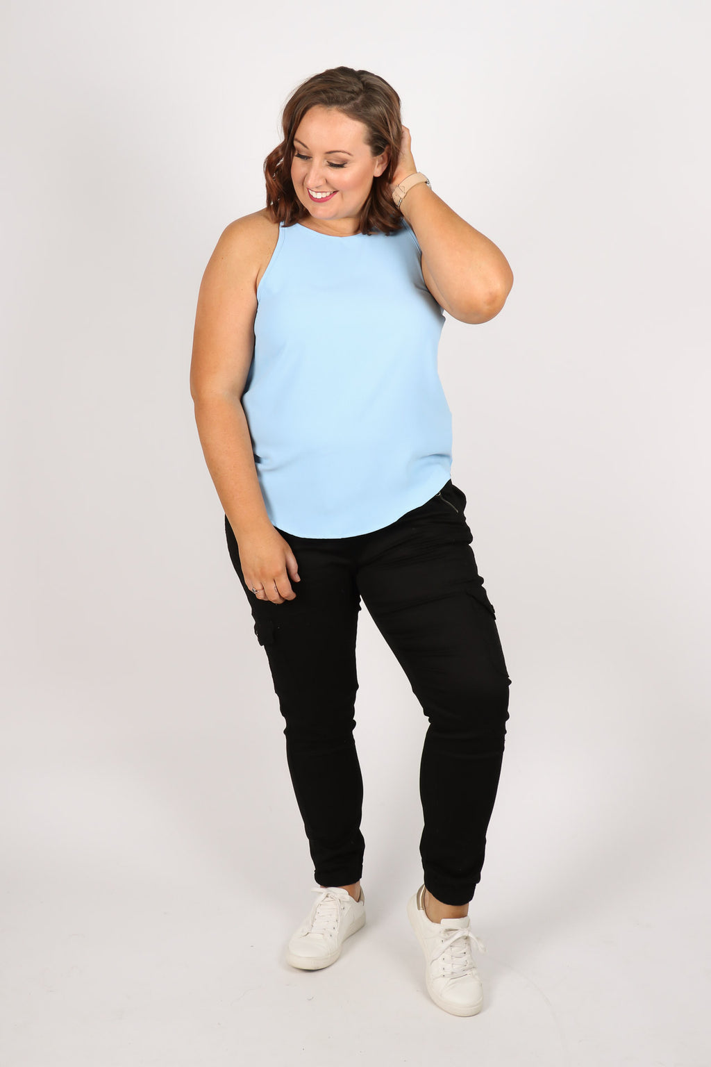 Carly Top in Blue