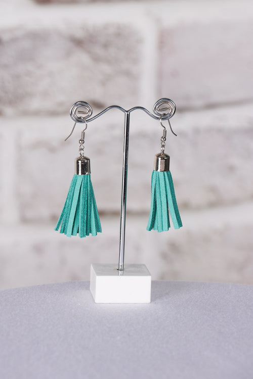 Admire Tassel Earrings in Teal