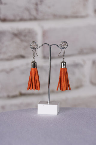 Admire Tassel Earrings in Burnt Orange