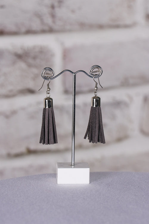 Admire Tassel Earrings in Grey