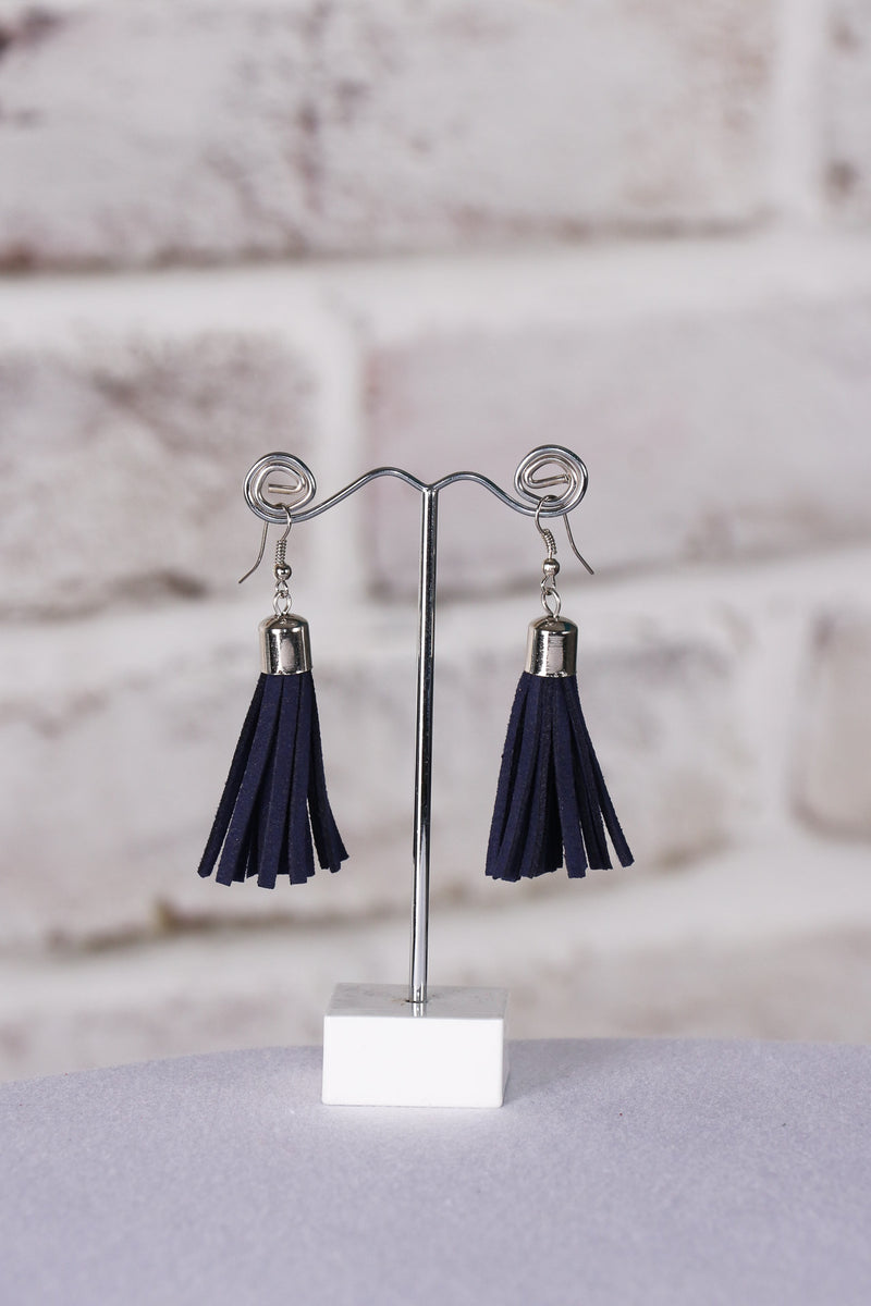 Admire Tassel Earrings in Navy