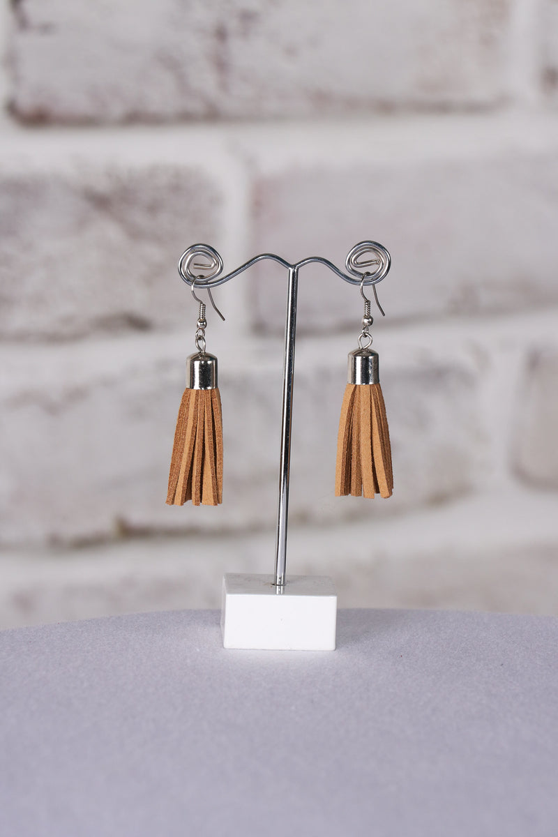 Admire Tassel Earrings in Tan