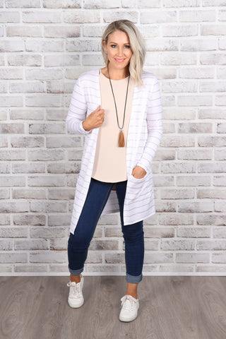 Berlin Cardi in White