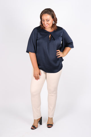 Savoy Top in Navy