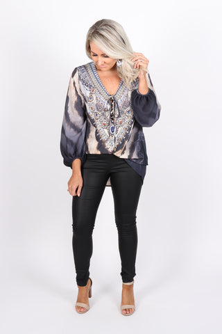 Bethany Blouse in Dark Exotic