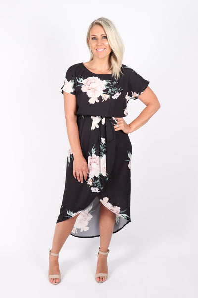 Cassidy Dress in Black Bliss
