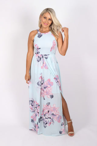 Neveah Dress in Mint Green