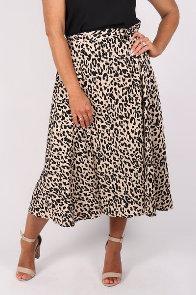 Melly Wrap Skirt in Cheetah