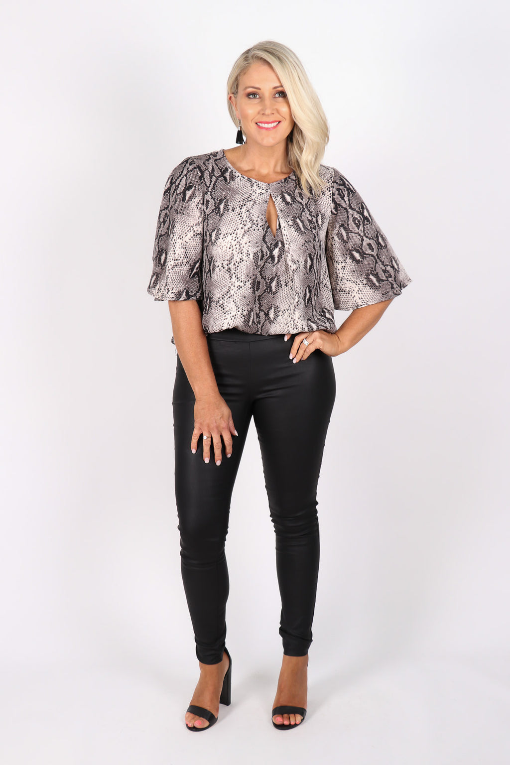Savoy Top in Grey