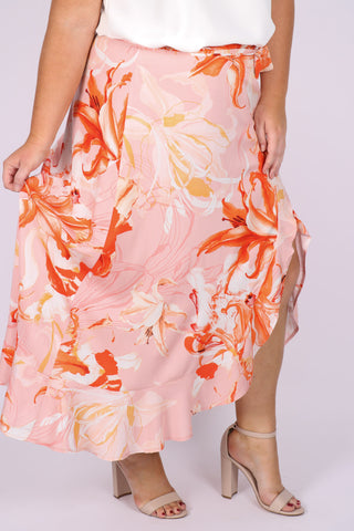 Denzel Wrap Skirt in Flamenco