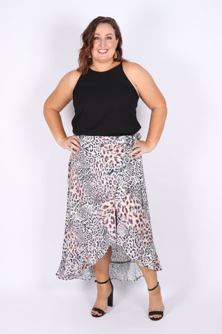 Connections Wrap Skirt in Animalia