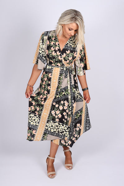 Illusions Maxi Dress in Bloomdale