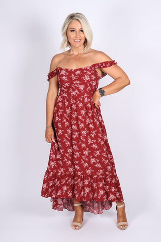 Isla Maxi Dress in Terracotta