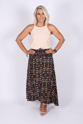 Eliza Maxi Skirt in Black