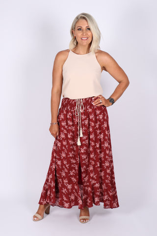 Tamara Maxi Skirt in Terracotta