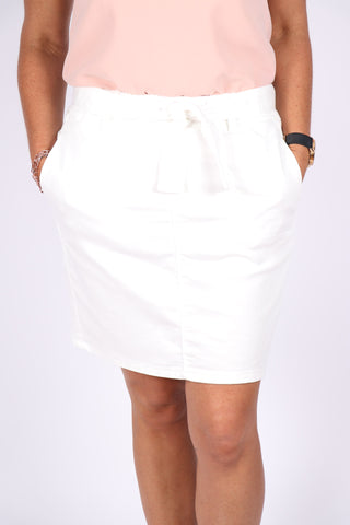 Archer Denim Skirt in White