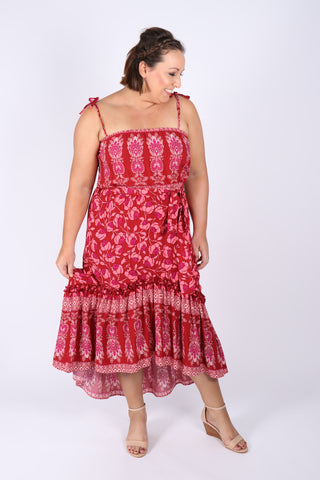 Carrie Dress in Pink Fusion