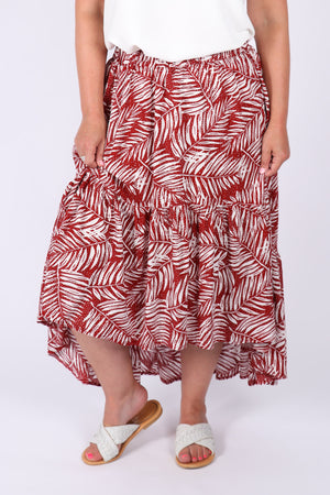 Shoalhaven Skirt in Red