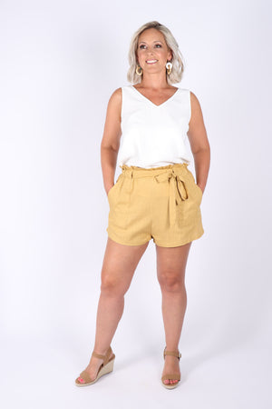 Apex Shorts in Mustard