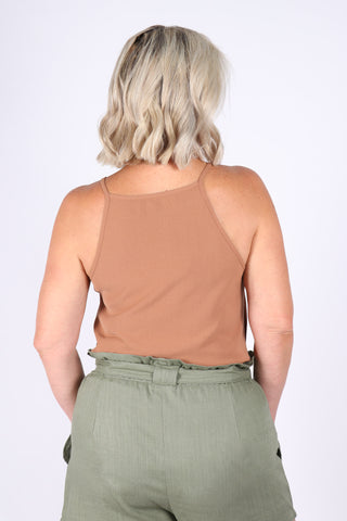 Macie Top in Nutmeg