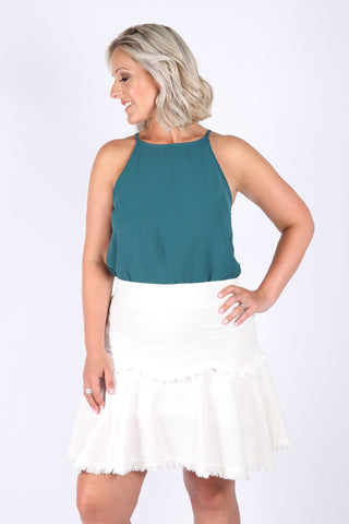 Macie Top in Emerald