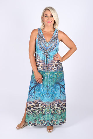 New Heights Dress in Aqua Marine