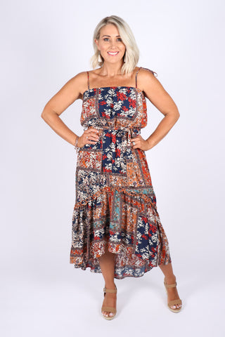 Carrie Dress in Patch Floral