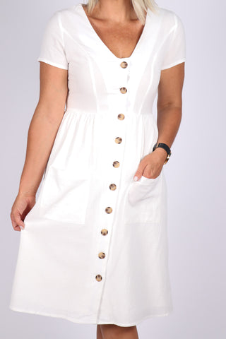 Adore Me Dress in White