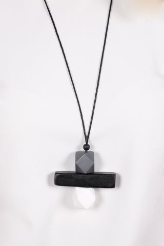 Elements Necklace Grey/Black/White