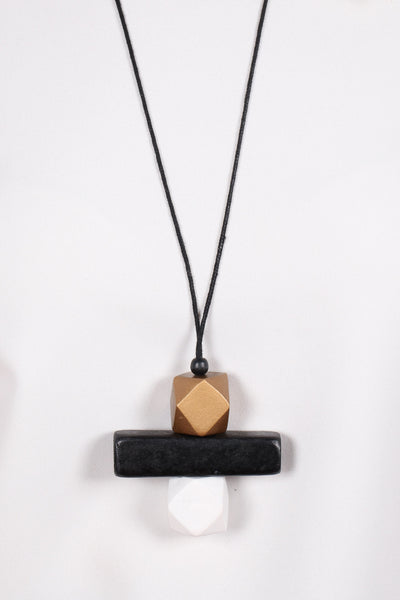 Elements Necklace Bronze/Black/White